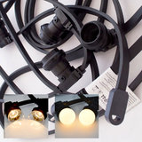 Prikkabel van 10 meter met keuze uit 10, 20 of 30 fittingen inclusief warm witte LED lampen