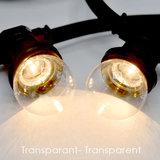 Schwarze Birnenlichterkette - 10 Meter - Inklusive LED warm weiß_