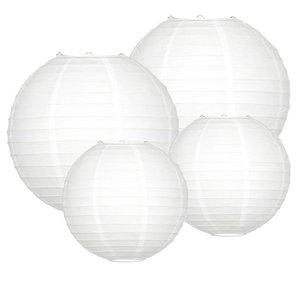 Lampionpakket - Medium wit 20 delig