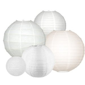 Lampion Set - Medium White - 20 teilig