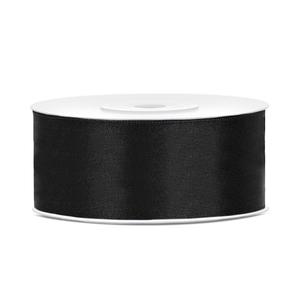 Satinband Schwarz 25 mm / 25 m