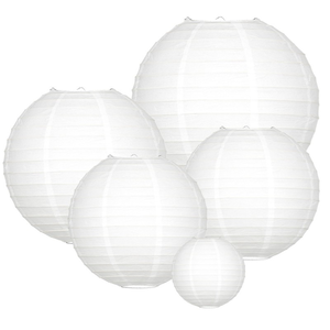 Lampionpaket - Basic White Medium - 20-teilig
