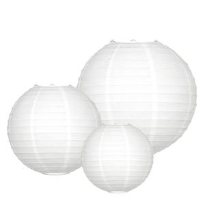 Lampion Set - Basic White Small - 10-teilig