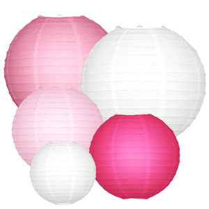 Lampion Set - Rosa Medium - 20-teilig