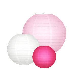 Lampion Set - Rosa Small - 10-teilig